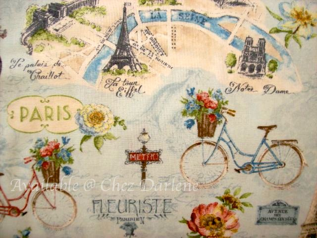 Eiffel Tower Amp Paris Theme Cotton Quilting Fabrics